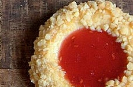 Recette de Desserts – Sablé Volcan à la confiture